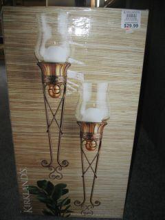Kirklands SCONCES Home Decor Candle Holders Antique Gold Wall Sconces