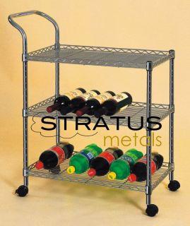 Tier Rolling Kitchen Cart Serving Car Wine Rack Kitchen Organizer