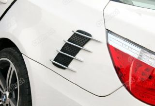 2in1 Car Roof Hood Air Flow Decorative Engine Vent Cover Sticker