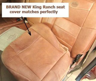 01   03 Ford F150 SuperCrew Buckets Driver Bottom King Ranch Leather