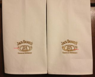 Jack Daniels 2 Embroidered Bath or Kitchen Towels by Susan