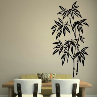 Chinese Bamboo Tree Wall Art Stickers Kitchen Bathroom Vinyl Flower