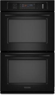 KitchenAid Superba Double Electric Wall Oven Model KEBS207DBL8 Black