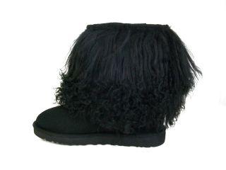 UGG Australia Womens 1875 Sheepskin Cuff Boot Black Sizes 7 8 9 10
