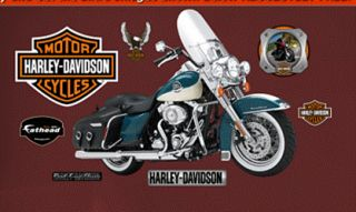Harley Davidson Road King Classic Fathead Wall Graphic