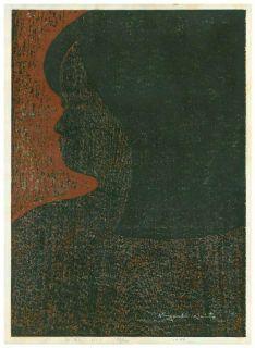 Kiyoshi Saito Japanese Woodblock Print Portrait of A Girl 1967