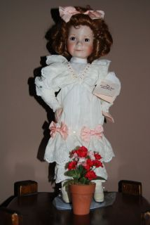 Knowles Little Girl with A Curl Doll Porcelain Dianna Effner