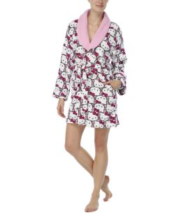 Hello Kitty Plush Shawl Collar Robe