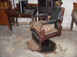 Antique Pre War Wooden Koch Barber Chair