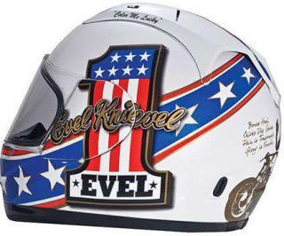 Rockhard Street Full Face Helmets Evel Knievel Medium M