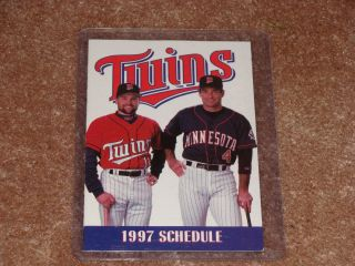 1997 Minnesota Twins Schedule RED Jersey Paul Molitor Chuck Knoblauch