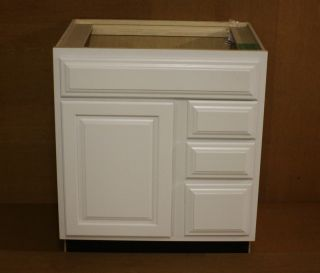 Kraftmaid Dove White Bathroom Vanity Sink Base Cabinet 30 Granite tops