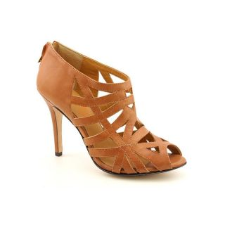 KORS Michael Kors Salinas Womens Size 7 Brown Open Toe Leather Strappy