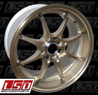 15 KONIG FLATOUT BRONZE RIMS WHEELS 15x8 +25 4x100 MIATA SCION XB BMW