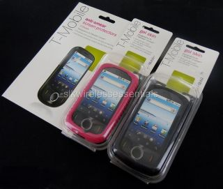 Lot2 New T Mobile Comet Huawei U8150 Premium Black Pink Gel Skin Case