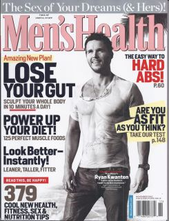 Mens Health Magazine True Blood Ryan Kwanten Muscle Foods Hard ABS Fit