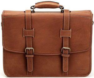 Korchmar Adventure Leather Litigator Laptop Briefcase Business Case