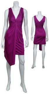 Kurt Thomas Gorgeous Fuschia Pink Jersey Draped Cocktail Eve Dress 8