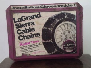 La Grande Sierra Tire Chains 1922