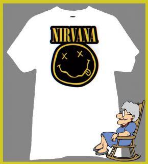 Nirvana T Shirt Kurt Cobain Dave Grohl Krist Novoselic