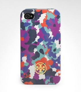 L5 New Tory Burch Purple Flower Hard Shell Case Cover For Apple iPhone