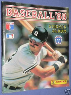Panini Baseball 88 Sticker Album 1988 Book Mattingly