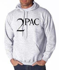 2Pac Logo Hoodie Hip Hop Rap Makaveli Tupac New SM 3XL
