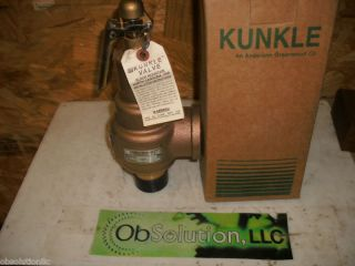 Kunkle Safety Relief Valve 1 1 2 6010HGV01 KM 45 PSIG
