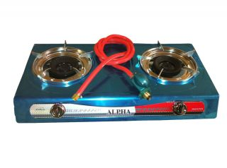Portable Propane Two Burner Gas Stove T Gate Camping