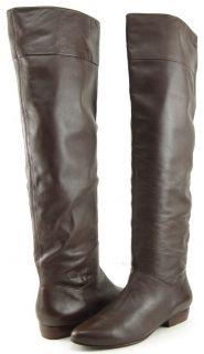 POUR LA VICTOIRE MALORIE Brown Leather Womens Designer Knee High Boots