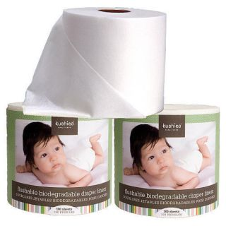 Kushies Baby 3 Roll Pack Flushable Biodegradable Diaper Liners