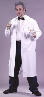 Mad Scientist White Lab Coat Doctor Adult Mens Costume
