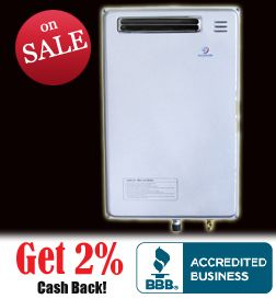 Eccotemp 40H 6 3 GPM LPG Outdoor Tankless Water Heater