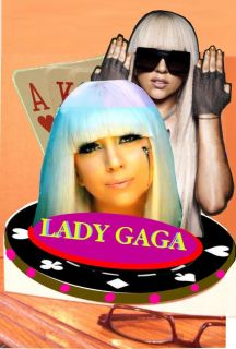 LADY GAGA stand up standee cardboard standup stande DISPLAY poker face