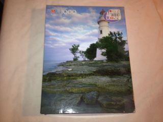 Milton Bradley Marblehead Lighthouse Oh 1000 Piece Jigsaw Puzzle
