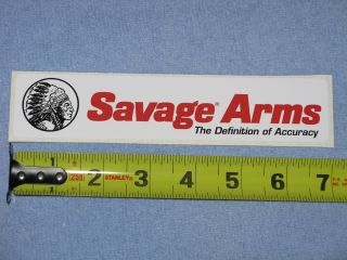 RARE Savage Arms Vinyl Logo Decal Sticker Chief Head 7 x 1 5 Rifle