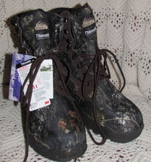 ITASCA GHOST LAKE MENS WATERPROOF LEATHER CAMO NYLON TRAIL BOOTS Size