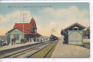 Mountain Lake Park Maryland 1913 B O Railroad Depot Train Station