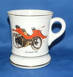 Lefton Porcelain Mustache Cup 1895 Lanchester Car Fathers Day Gift