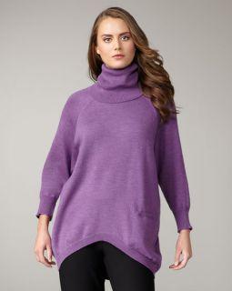 New $258 Eileen Fisher Merino Wool Oval Turtleneck African Violet 3X