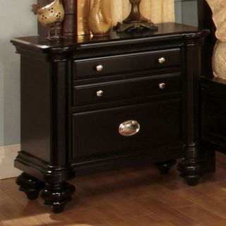 Solid Wood Laguna Hills Black Finish Night Stand