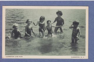 NJ VINTAGE PC CLEMENTON LAKE PARK KIDS SWIMMING AMUSEMENT PARK