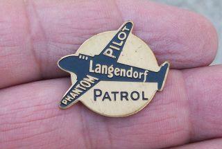 1930s Langendorf Bread Phantom Pilot Patrol Premium Pin