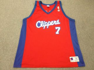 Vintage Lamar Odom Los Angeles Clippers Champion NBA Jersey Mens 52