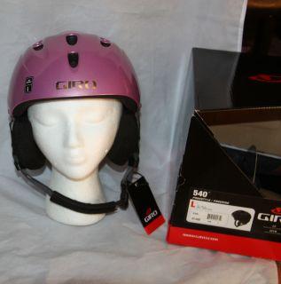 Girls Pink Skiing Snowboarding Snow Helmet Size Large New