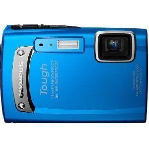 Olympus Tough TG 310 Blue 14MP Digital Camera w 3 6x Optical Zoom
