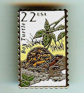 Turtle Metal Postage Stamp Pin Lapel Pins Tie Tac 2326