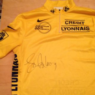 Lance Armstrong Signed Jersey Yellow Tour de France with COA