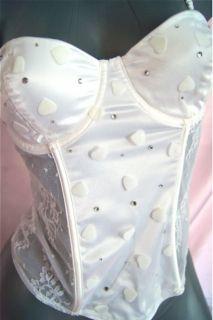Victorias Secret Bride Costume Lingerie Corset Tiara Veil Skirt