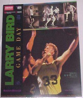 Larry Bird Boston Celtics Game Day Herald Promo Poster